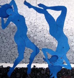 馬場惠子 想望(そうぼう)平面 縦 176cm × 横 164cm 染色 一般