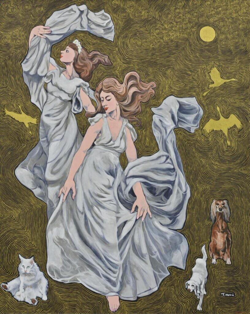 理事 森務 「月の曲べ」 F100号 油彩画
