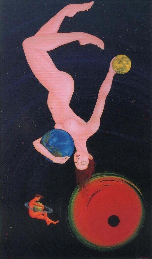 会員 太田富治夫 宇宙の旅の終焉(ブラックホール) 油彩画