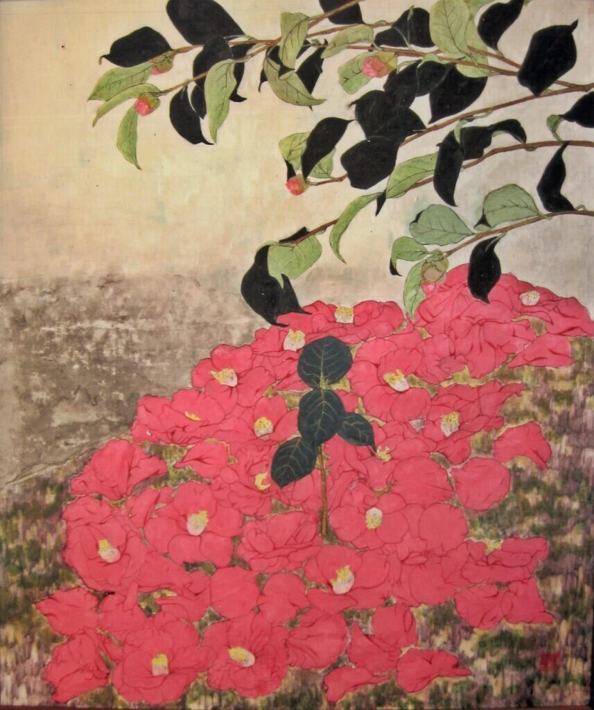 会員 天利 重子 春 F20号 日本画