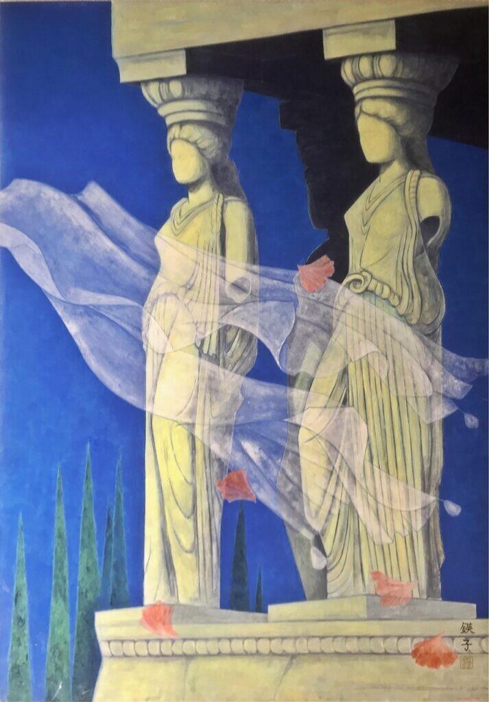 会員 近藤鍈子 アテネの風 116x80 日本画