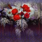 123 松本青樹 「花の幻想ー赤いバラ」