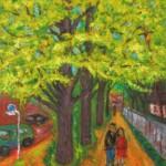 87 井上紀樹 「色づく銀杏並木」
