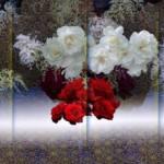 124 松本青樹 「花の幻想ー白い闇」