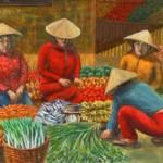 76 二宮浩司「ベトナムの露店市場」